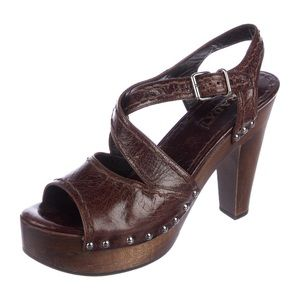 Prada brown leather sandal